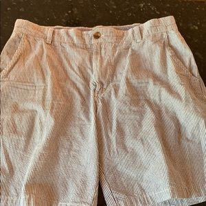 Izod 34 blue white seersucker shorts. Worn once